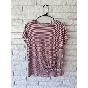 Ginger G Striped Twisted Tee